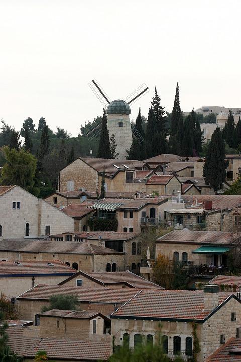 Jerusalem, Israel, Windmill, History, Architecture