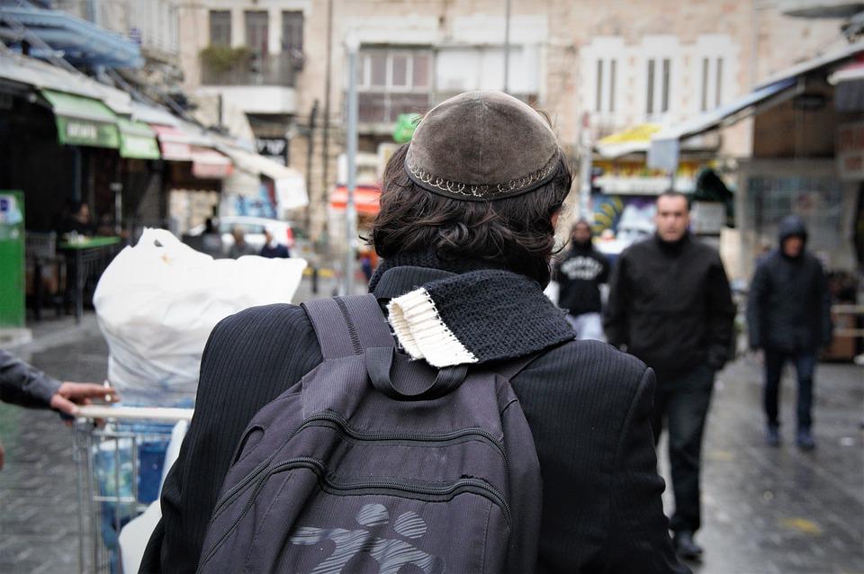 Street, People, City, Israel, Jerusalem, Jew, Orthodox