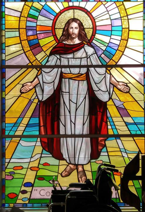 Stained Glass, Jesus, Glory, Church