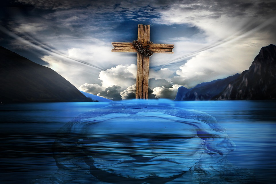 Free Photo Jesus Jesus Christ Cross Christianity Water Max Pixel