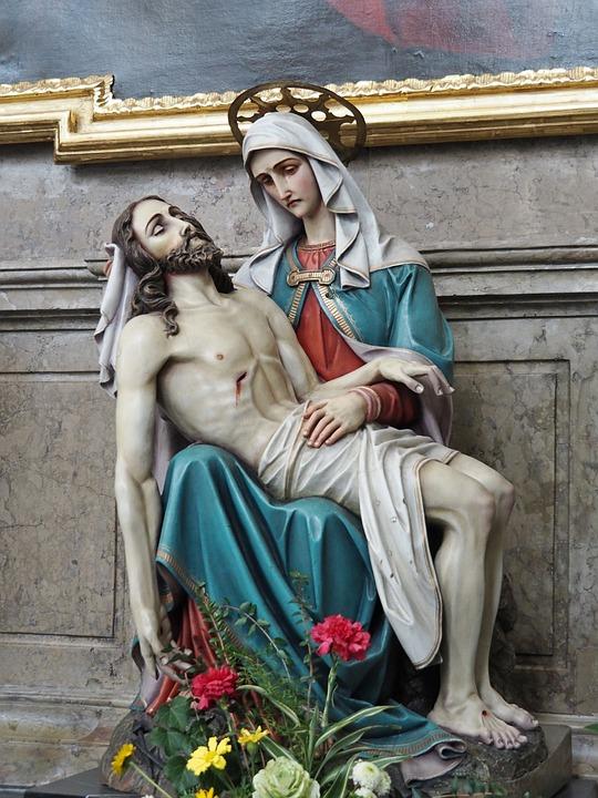 Pieta, Jesus, Mary, Christianity, Faith