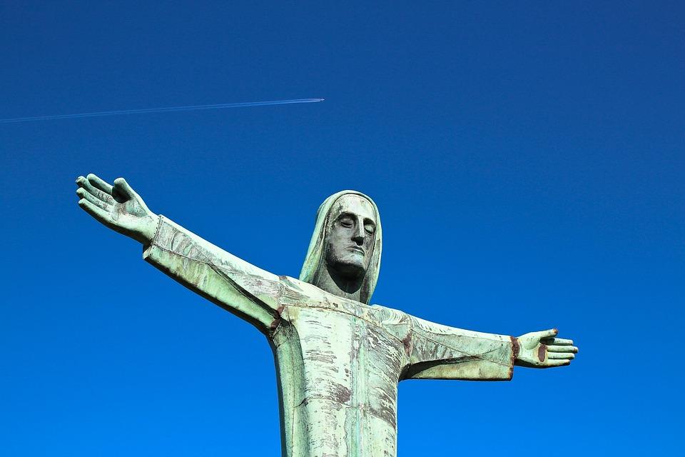 Statue, Fig, Sculpture, Metal, Melancholic, Art, Jesus