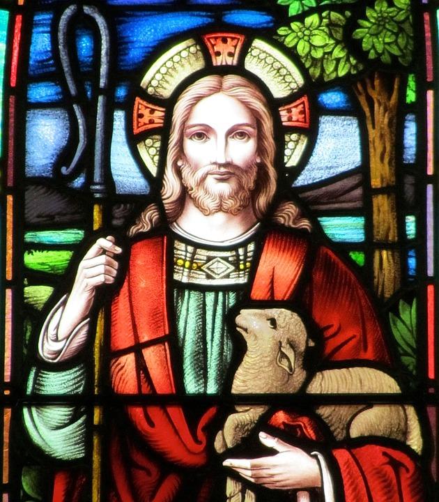 Jesus Risen, Stained Glass, Good Shepherd, Faith