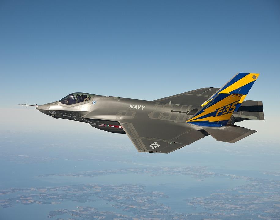 Fighter Jet, Jet, Lockheed Martin F 35 Lightning Ii