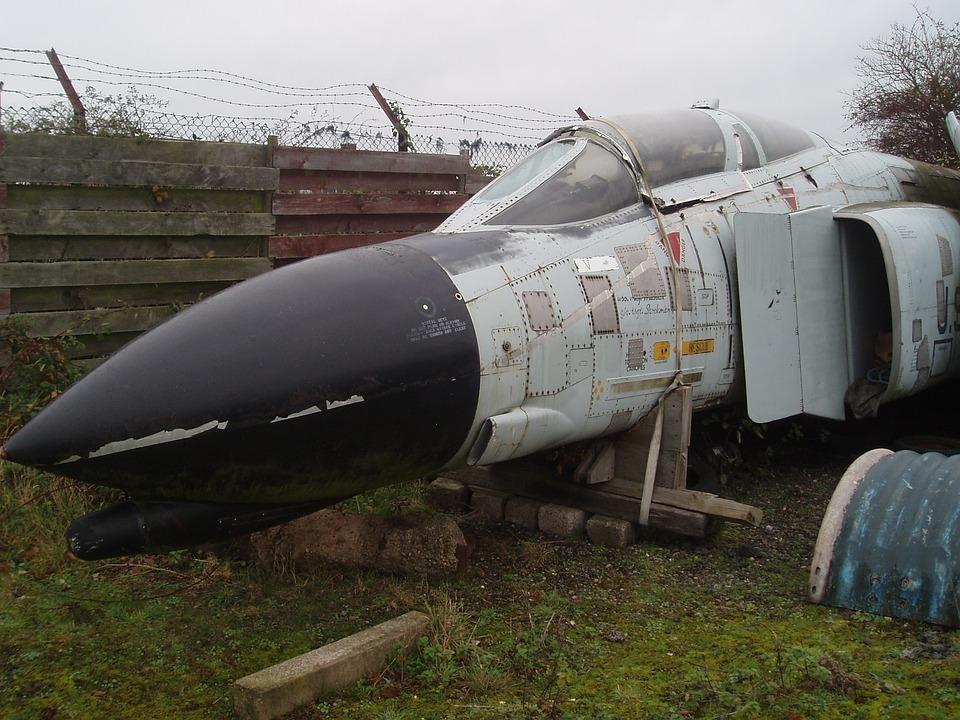 Phantom, Jet, Fighter, Scrap, Mothballed, Parts