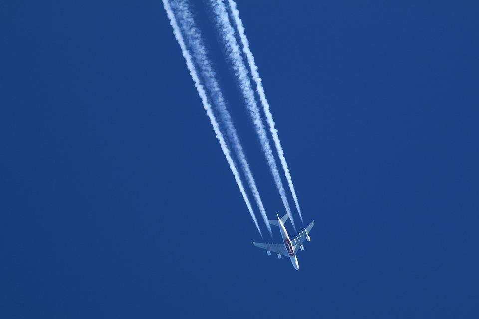 Jet, Sky, Blue, Radiation Plane, Airliner, Aircraft