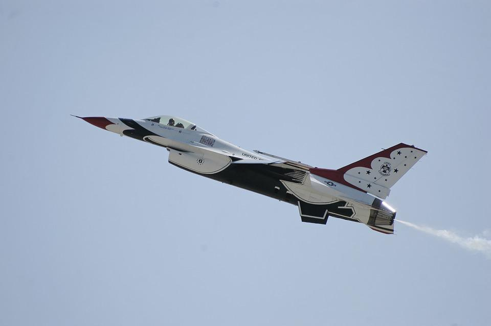 Thunderbirds, Airplane, Plane, Aircraft, Military, Jet