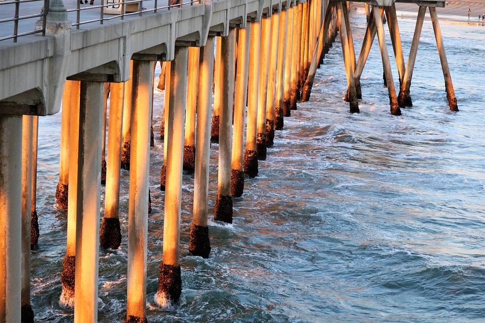 Pier, Water, Dock, Ocean, Beach, Sea, Jetty, Supports