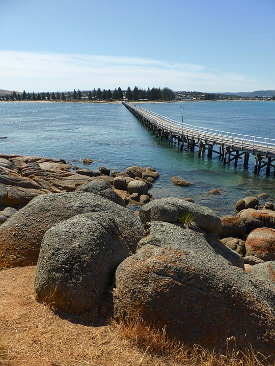 Perspective, Bridge, Pier, Jetty, Rocks, Rocky