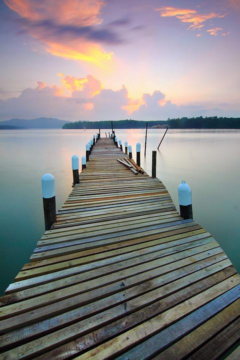 Jetty, Sunrise, Landscape