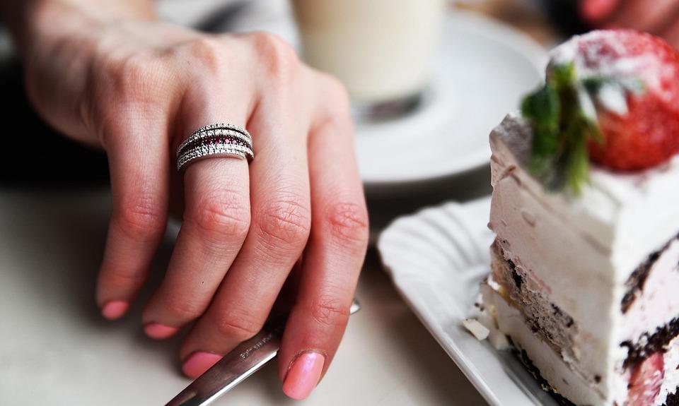 Diamond, Hand, Jewel Ring, Ruby