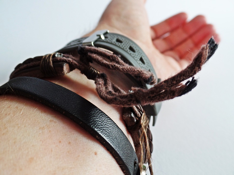 Bracelets, Arm, Bracelet, Leather, Fabric, Jewellery