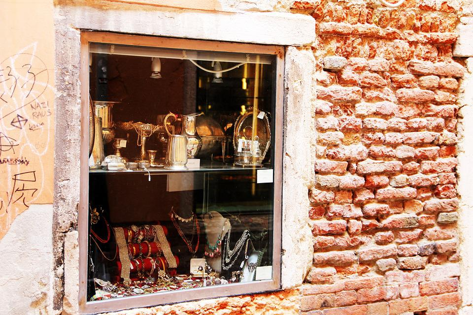 Window, Sell, To The Sale, Jewellery, Old, Silver