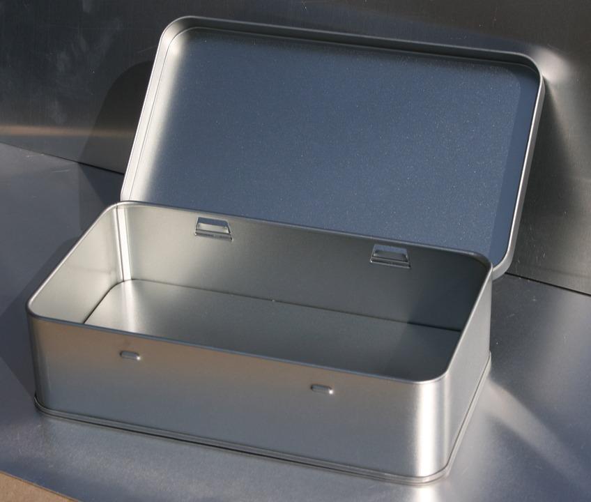 Tin Can Rectangular, Jewelry Box, 1a-box Shop