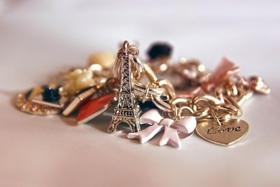Eiffel Tower, Bracelet, Heart, Jewelry, Fashion