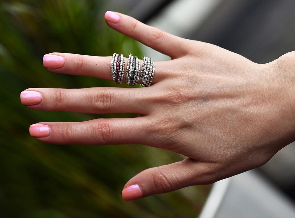 Ring, Diamond, Ruby, Emerald, Hand, Jewelry