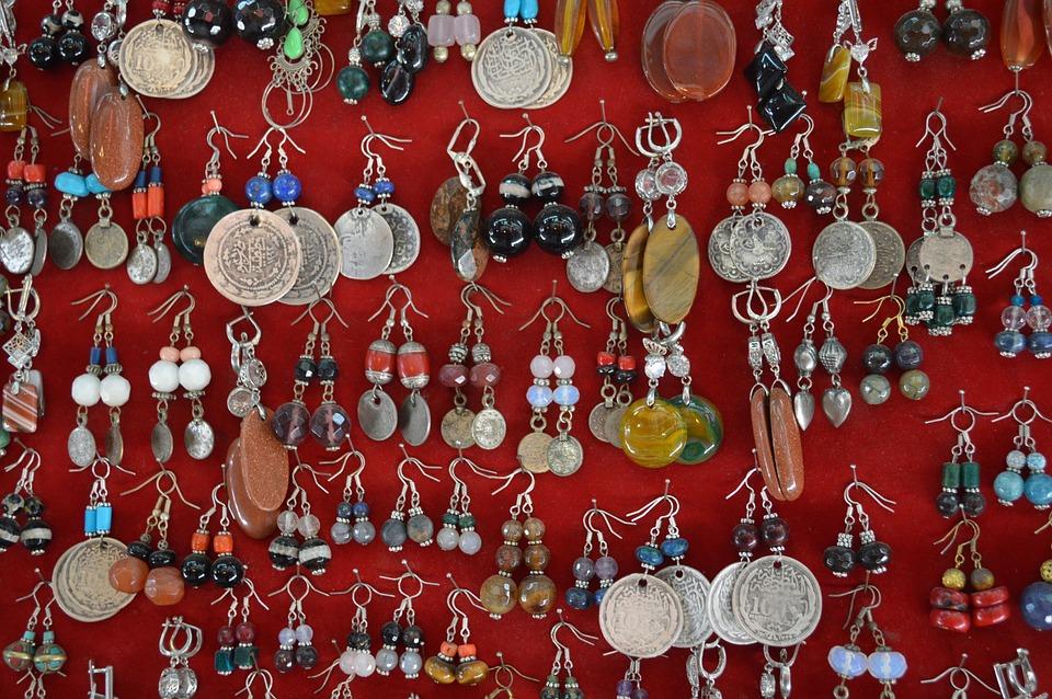 Earrings, Jewelry, Market