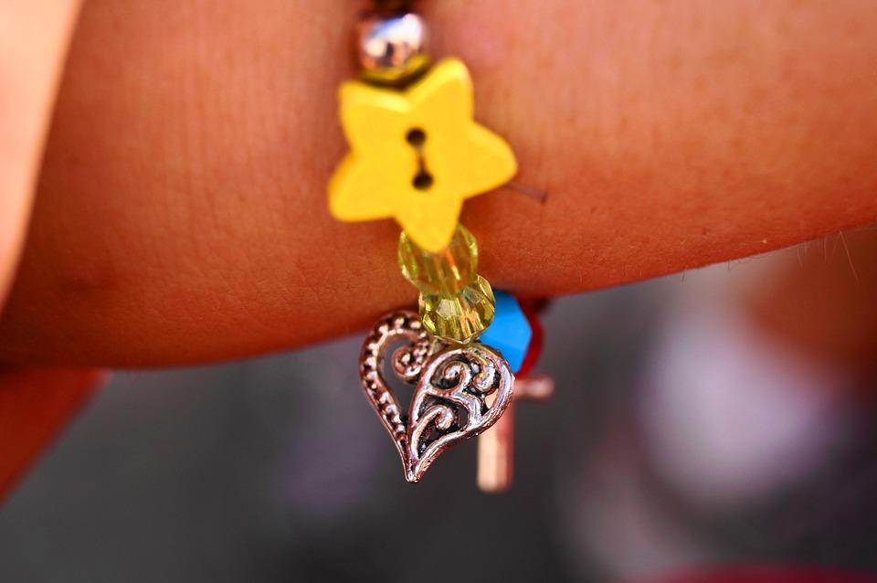 Bracelet, Children, Jewelry, Love, Friendship, Heart