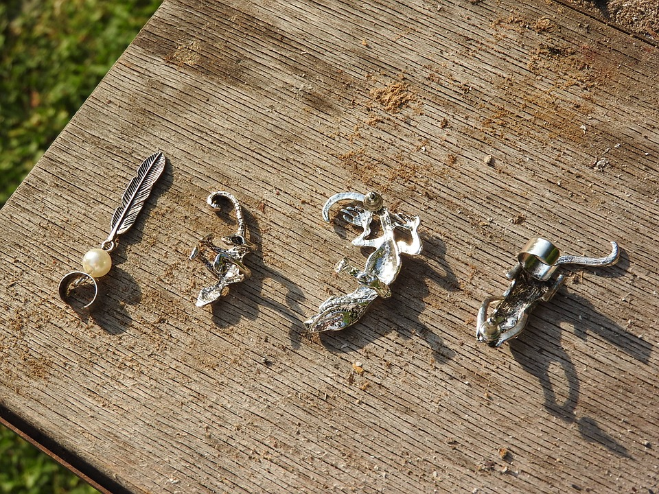 Earrings, Jewelry, A Collection Of, Silver