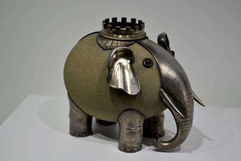 Elephant, Jewels, Antique, Piggy Bank, Jewelry
