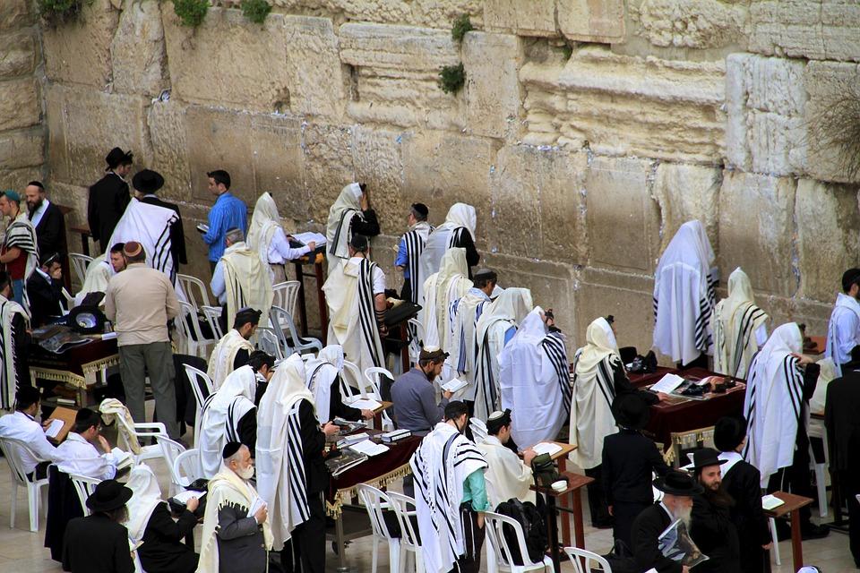 Wailing Wall, Jerusalem, Jewish, Praying, Believers