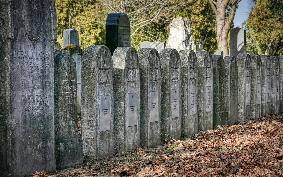Graveyard, Jewish, Vienna, Funeral, Depression, Graves