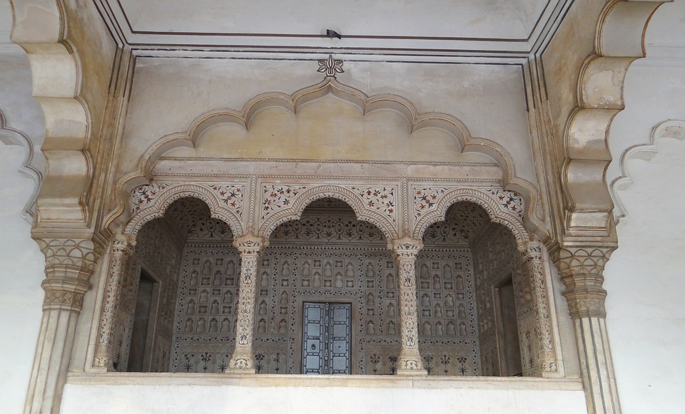 Marble Canopy, Jharokha, Emperor's Dais, Diwan-i-am