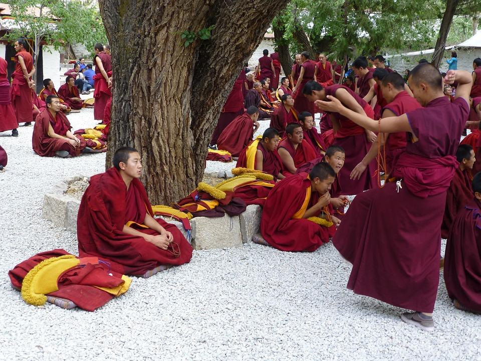 Tibet, Sera Monastery, Jhasa, Gelugpa, Debate Session