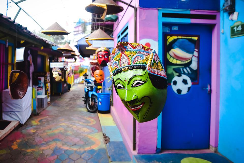 Free Photo Jodipan Malang Java Traditional Indonesia Mask Max Pixel