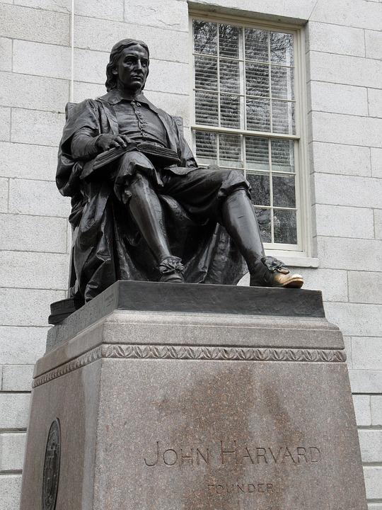 John Harvard, Statue, Came Bridge, Boston, University