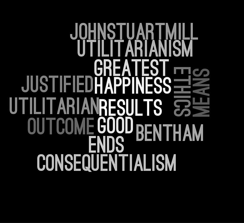 Ethics, Wordcloud, Utilitarianism, John Stuart Mill