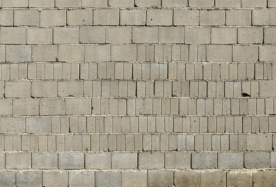 Sand-lime Brick, Wall, Joints, Weathered, Dirty, Barn