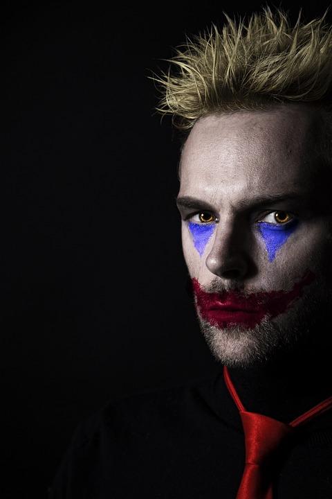 Clown, Halloween, Joker, Jester, Comedy, Funny, Man