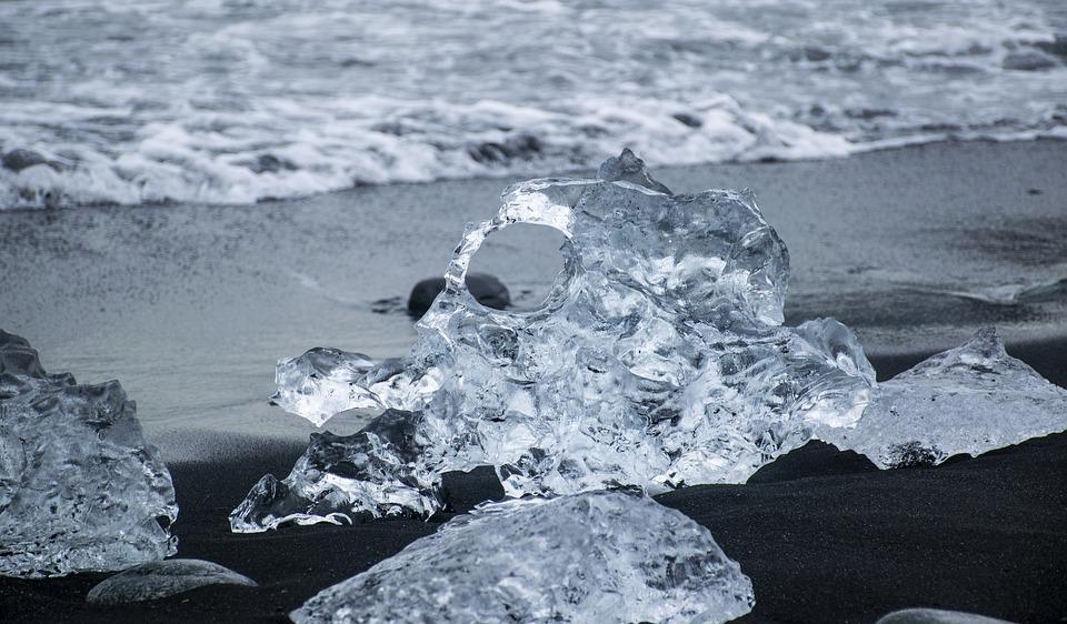 Iceland, Jokulsarlon, Diamond Beach, Strange Ice Shapes