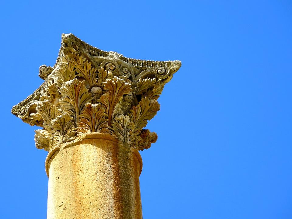 Jerash, Jordan, Column