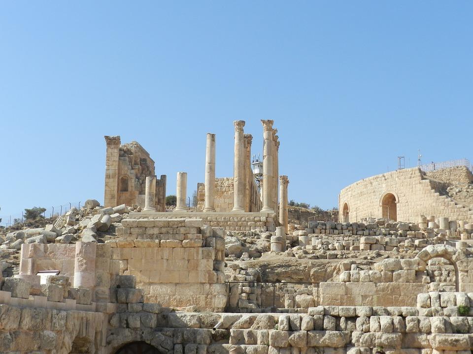 Roman Columns, Jerash, Jordania, Jordan