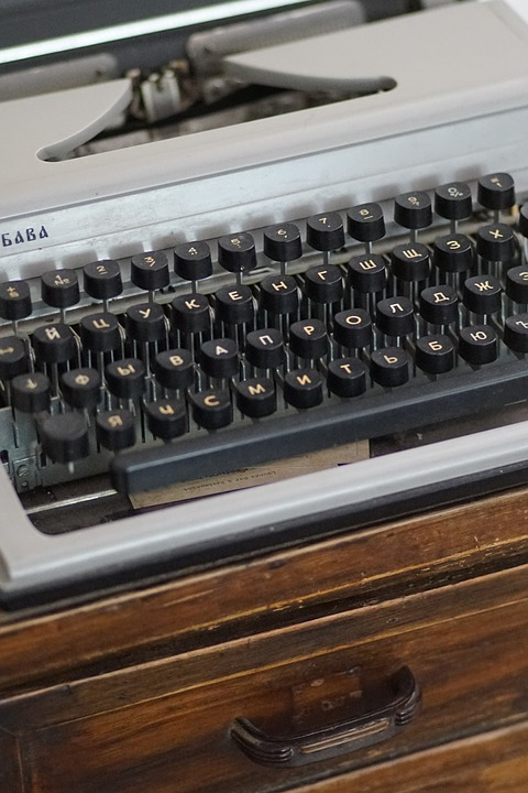Vintage, Typewriter, Journalist, Keys, Letters, Machine