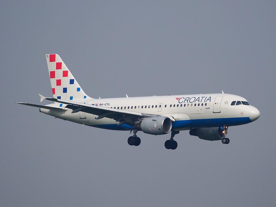Ctl, Landing, Croatia Airlines, Airplane, Jet, Journey