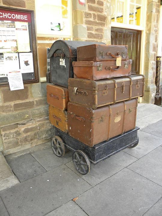 Luggage, Suitcase, Station Platform, Travel, Journey