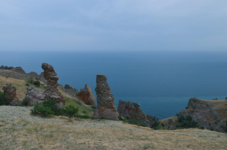 Landscape, Nature, Stone, Journey, Sky, Crimea, Summer