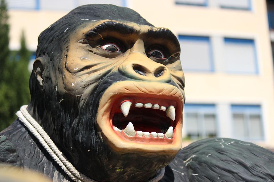 Gorilla, Animal, Plastic, Joust, False, Teeth, Monkey