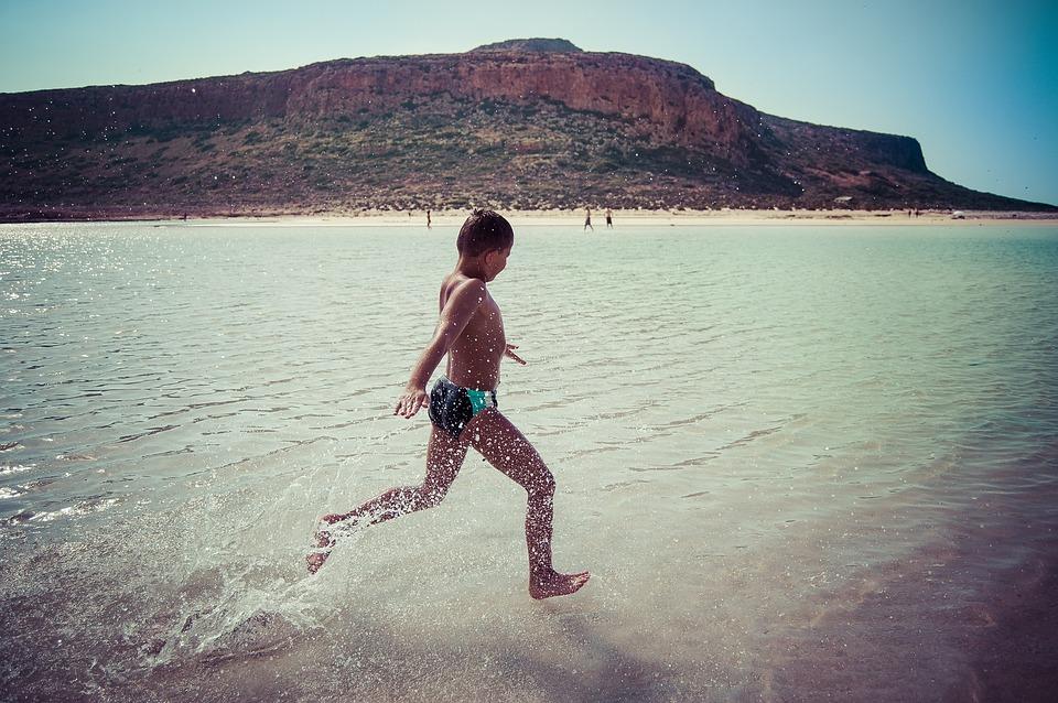 Child, Fun, Joy, Beach, Sea, The Stones, The Sun