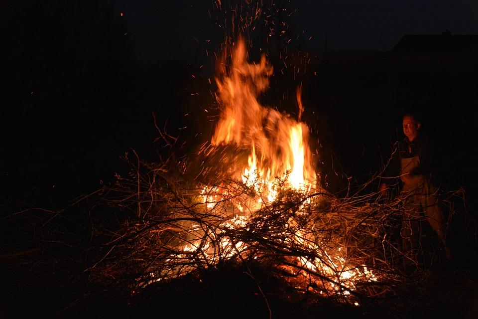 Easter Fire, Mecklenburg, Joy, Pagan
