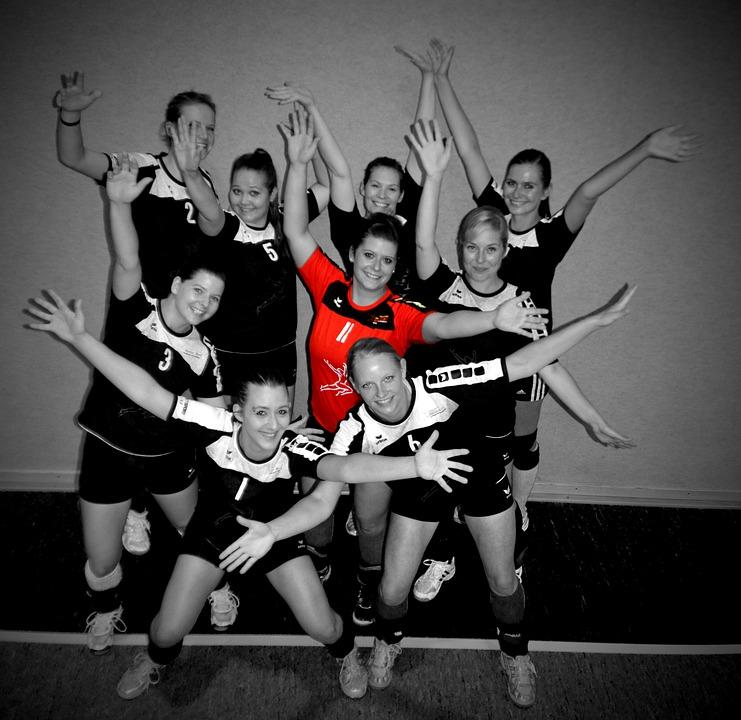 Volleyball, Team, Cheers, Victory, Joy, Fun, Hobby
