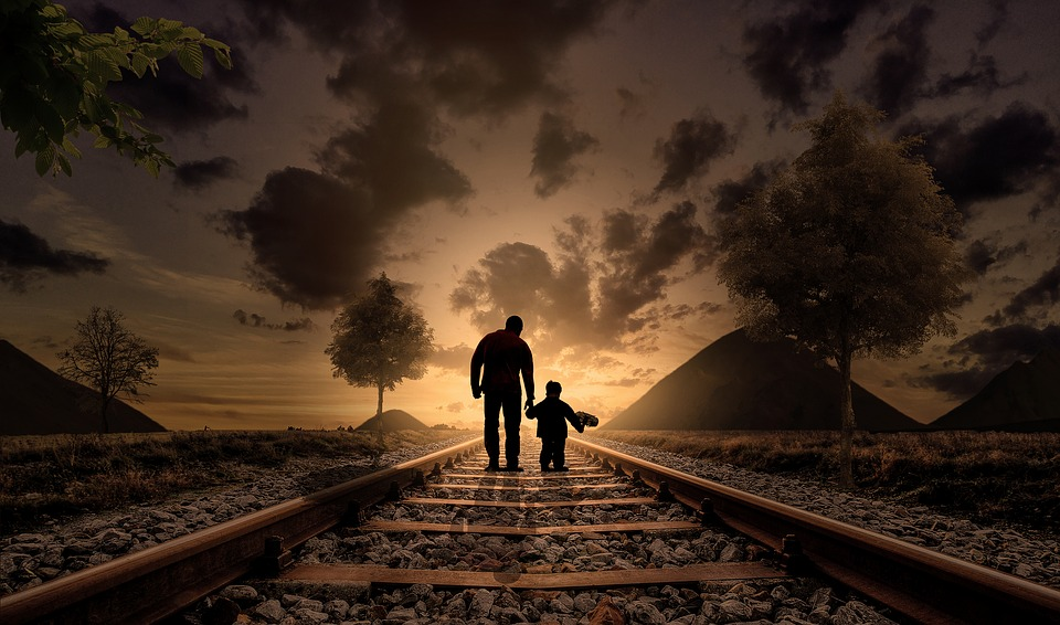 Father And Son, Happiness, Love, Walking, Child, Joy