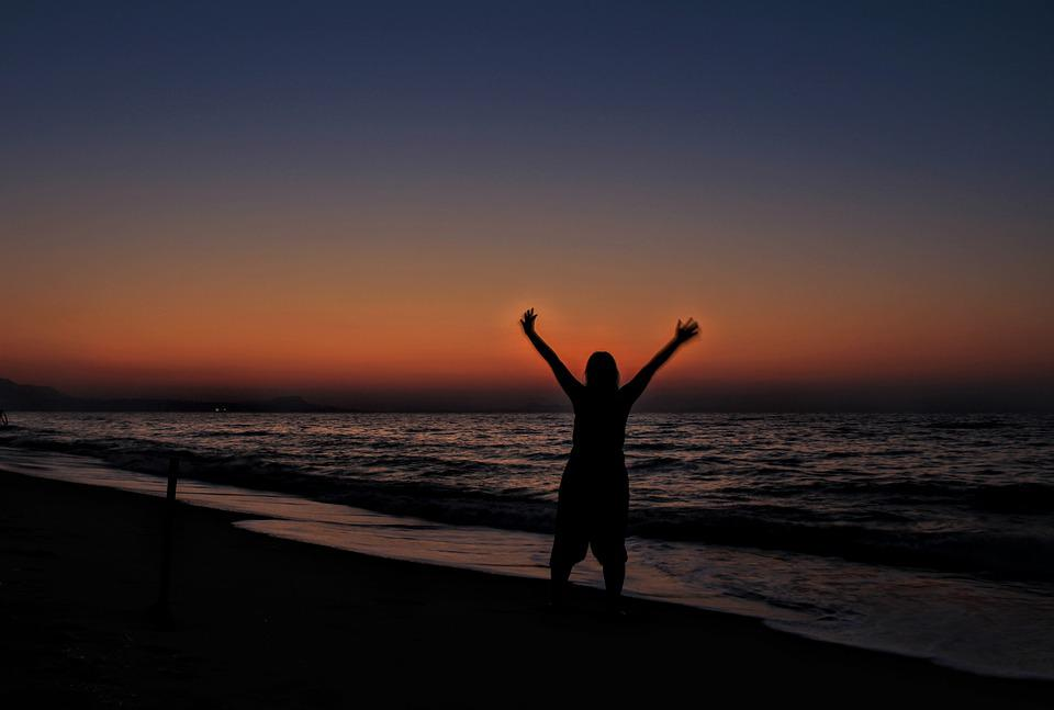 Joy, Joy Of Life, Sunset, Sea, Self Portrait, Selfi