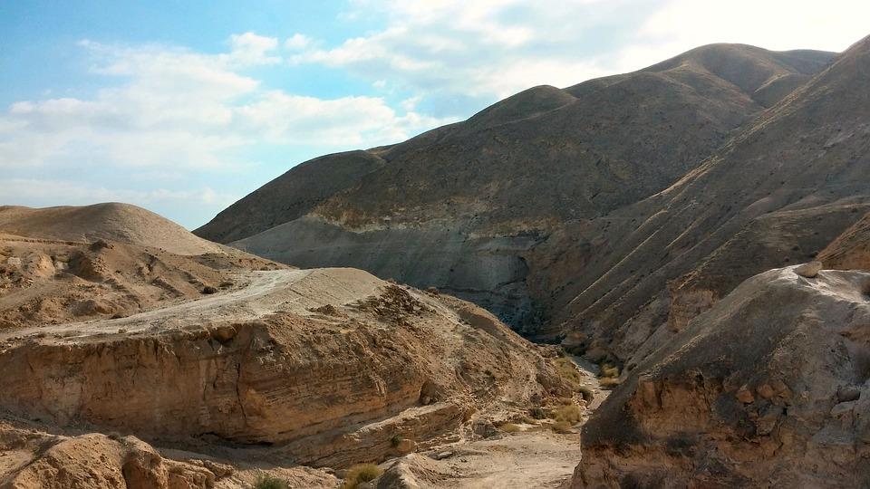Sand, Desert, Judaean Desert, Israel, Scenery, Hills