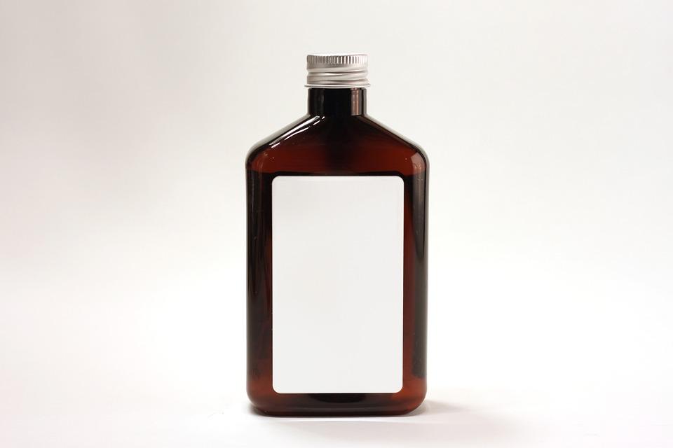 Bottle, Jug, Container, Brown, Label, Glass, Jar