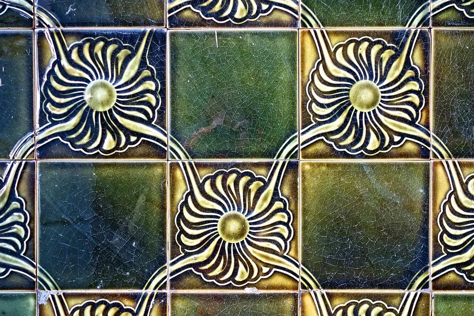 Free photo Jugendstil Ceramic Wall Tile Tile Art Nouveau - Max Pixel