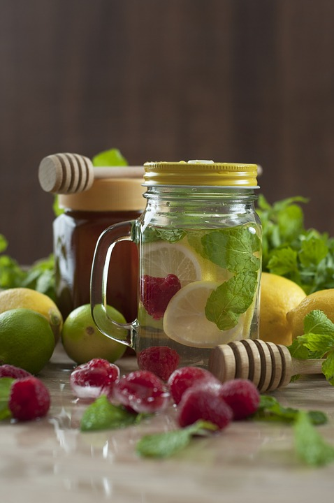 Infused Water, Water, Juice, Raspberry, Lime, Infused